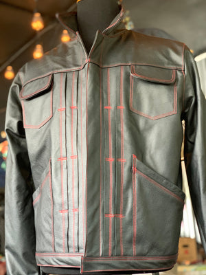 """Gustavo"" black leather jacket"