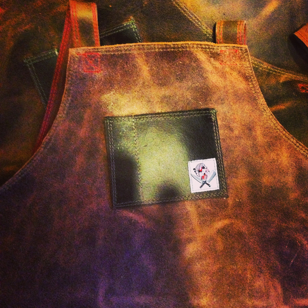 children's Leather  aprons (brown)