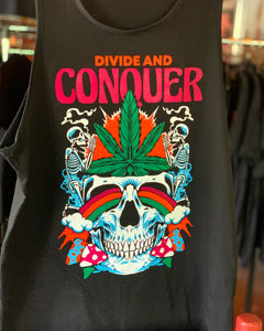 Divide & Conquer vneck praise to the Ganja farmer