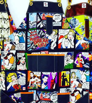 """He said she said"" pop art apron"
