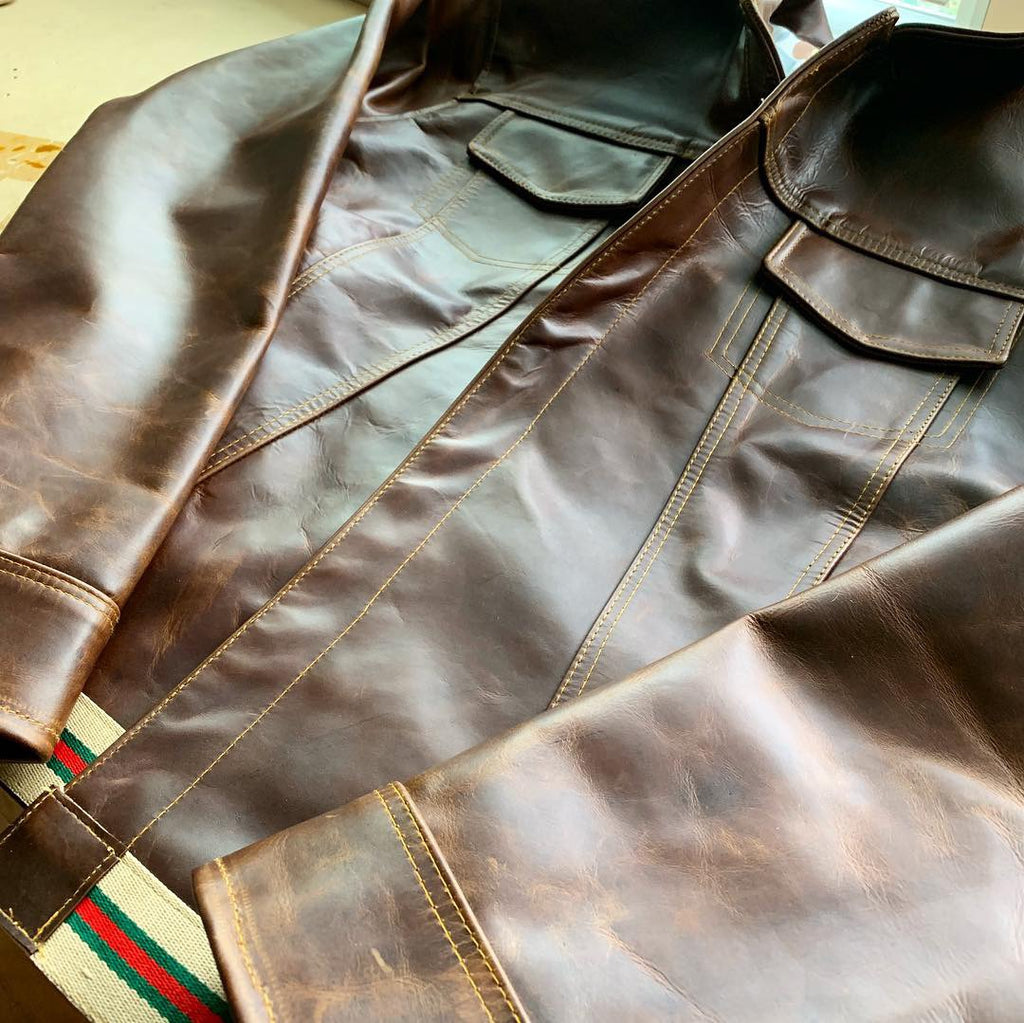 """Tigre del sur"" Leather jacket"