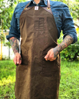 "Wax canvas apron "" El guapo"""