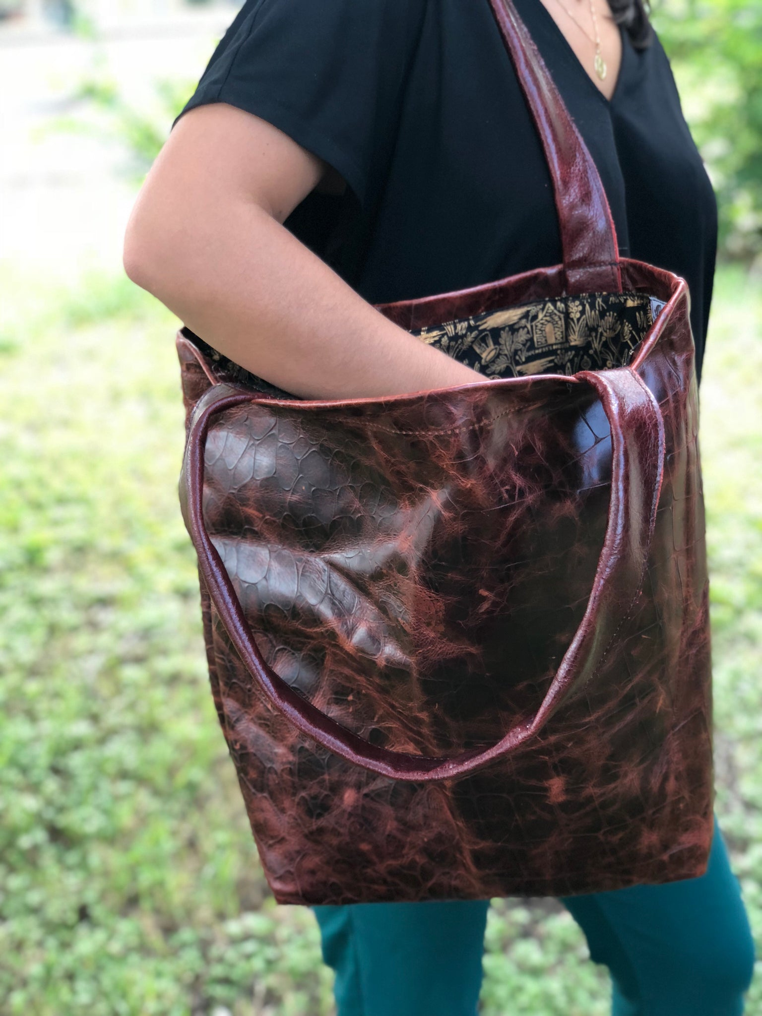 "Leather Tote-bag ""Alices bag"""