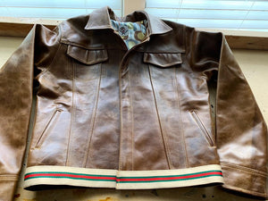 """Triad leathers"" women's leather jacket"