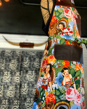 Powerful Latina apron
