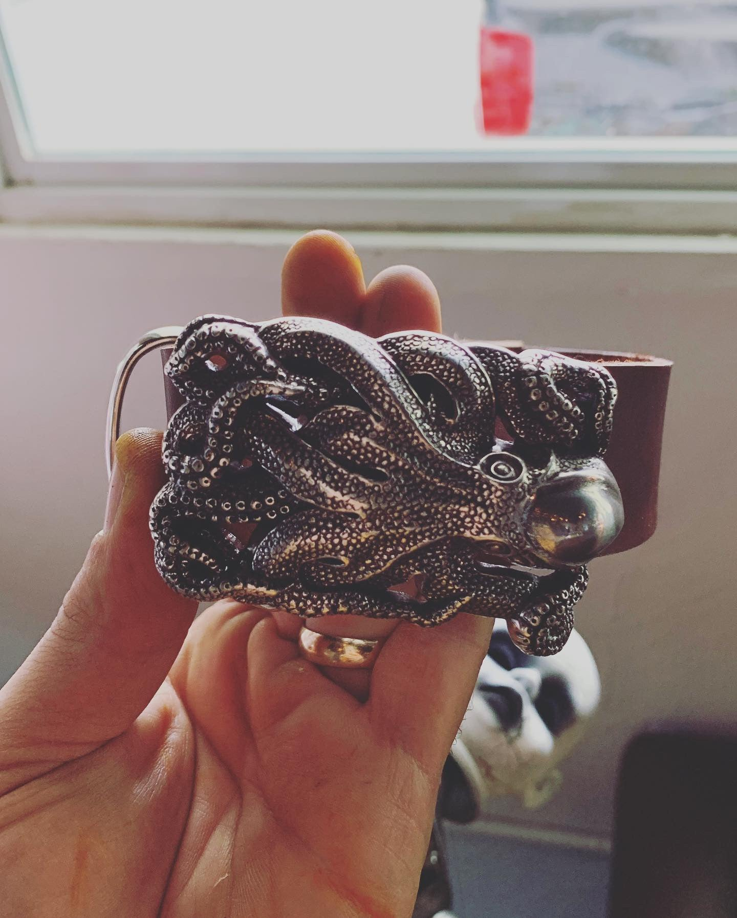 Leather Octopussy Belt