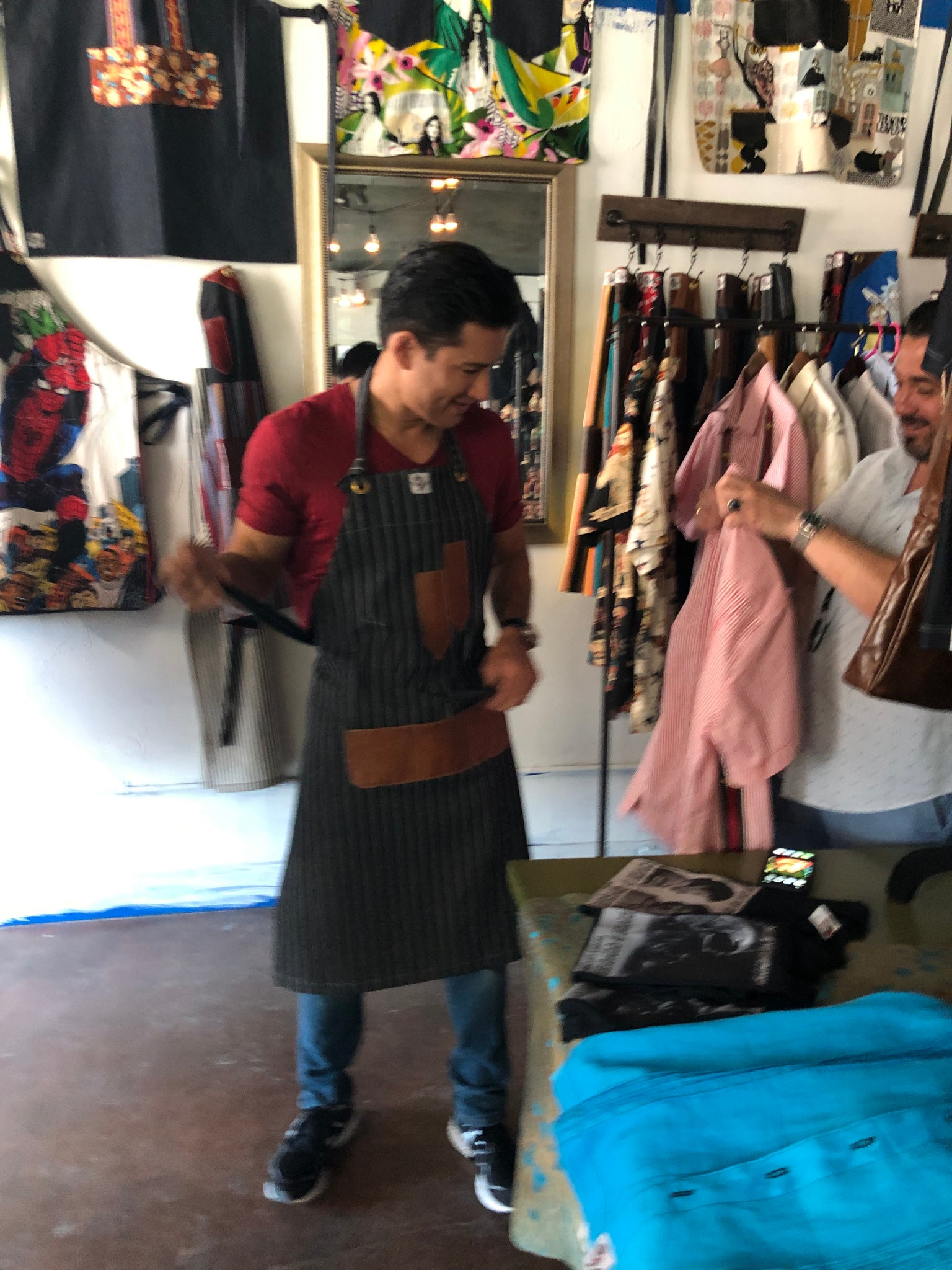 Denim & Yak apron