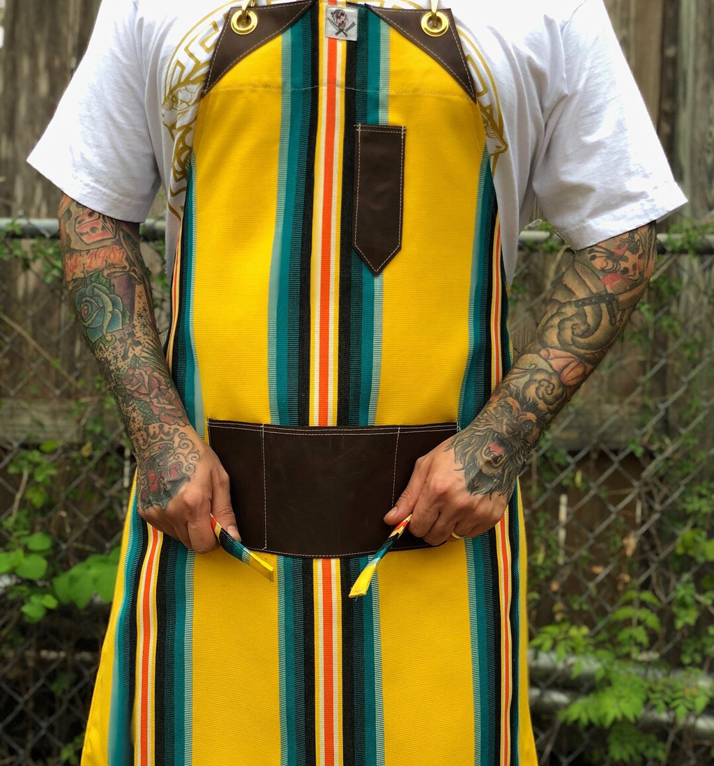 """Yellow bird"" apron"