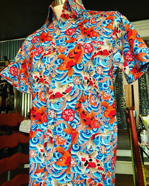 Koi fish king guayabera