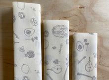 Load image into Gallery viewer, Beeswax Food Wraps Set of 3