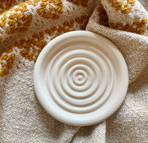 Round Ceramic Soap/Incense Tray