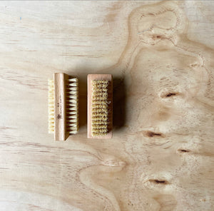 nail brush | wood + sisal