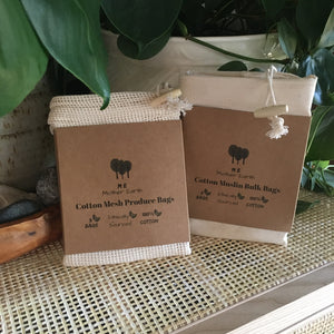 organic GOTS cotton bulk bags | set of 3