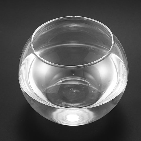 Round Sphere Vase in Transparent Glass Fish Tank