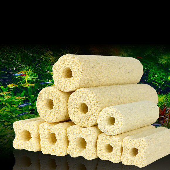 1pcs High Quality Ceramic Bio Porous Filter Media Biological Rings Aquarium Fish Tank Nitrifying Bacteria Biocycle Material