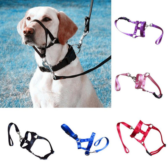 Nylon Dog Head Collar Muzzle