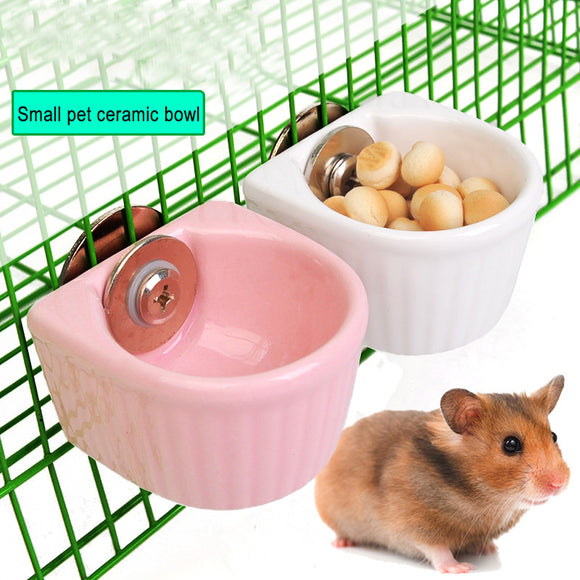 New Hamster Ceramic food water snack Feeder for pets squirrel Guinea pig Chinchilla ferret rabbit cage small bowl