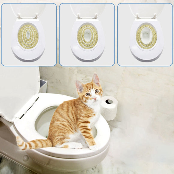 Pet Cat Toilet Training Kit Pet Kitty Potty Train System Step By Step Training Toilet Tray Training Toilet Pet Supplies Trainer