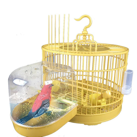 Parrot Bath Tub Bird Cage Accessories Bathing Supplies Shower Box Bird Cage Pet Small Bird Parrot Cage Bird Toys