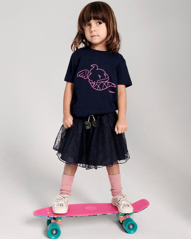 organic navy & pink t-shirt, Playground clothing, competition, win