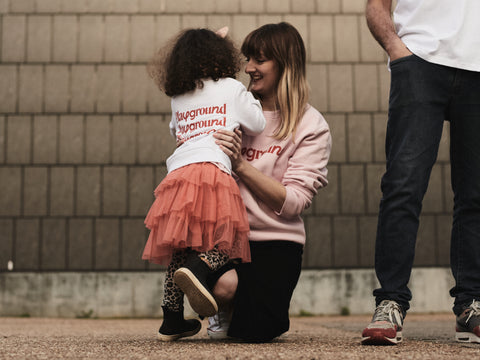 Mother and daughter wearing Playground clothing