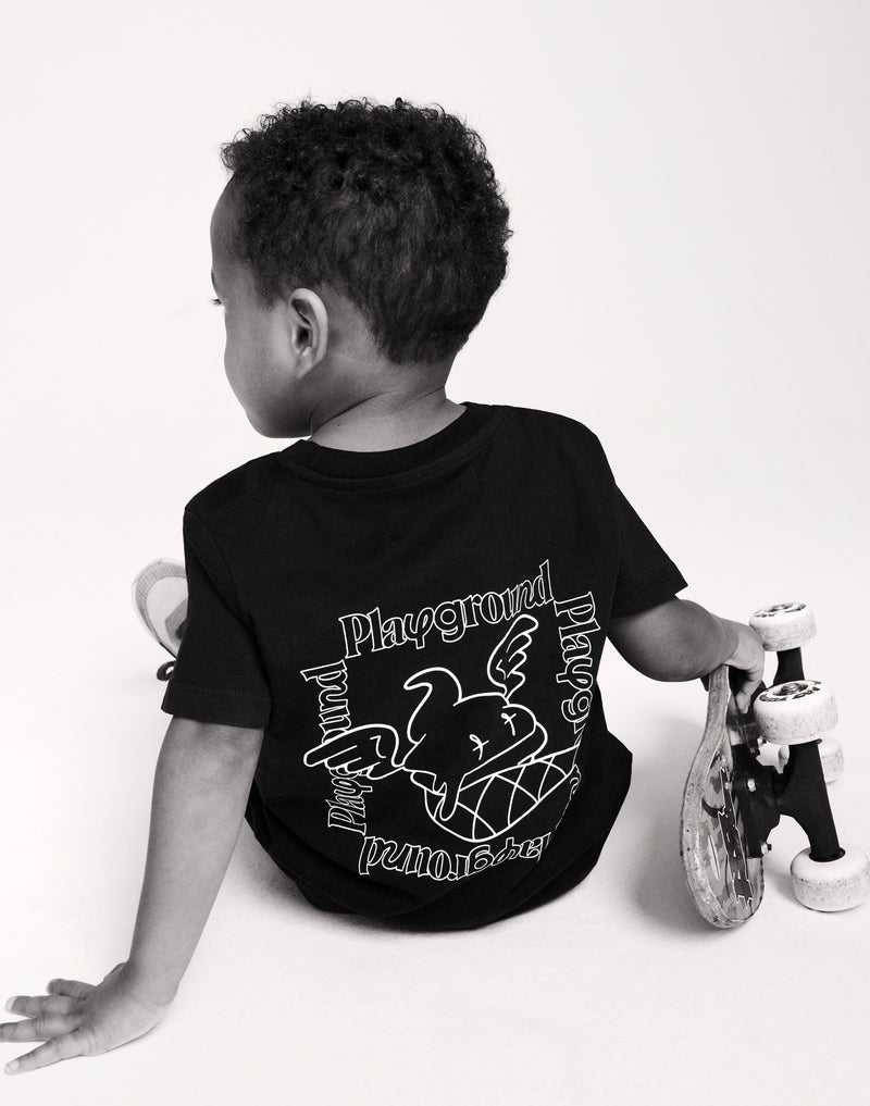 Playground Kids Statement T-shirt In Black