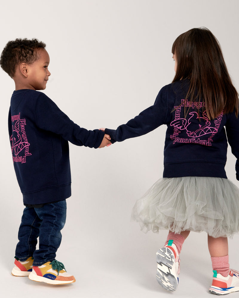 Playground Kids Statement Sweatshirt In Navy