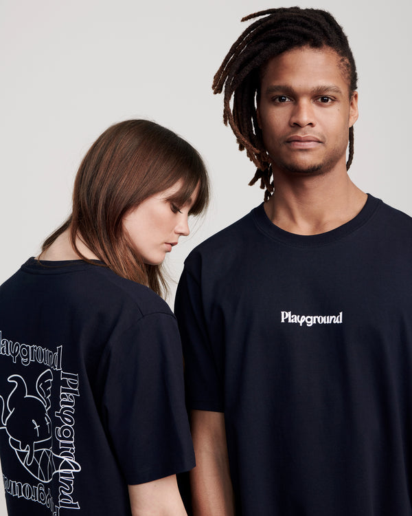 Playground Statement T-shirt In Navy