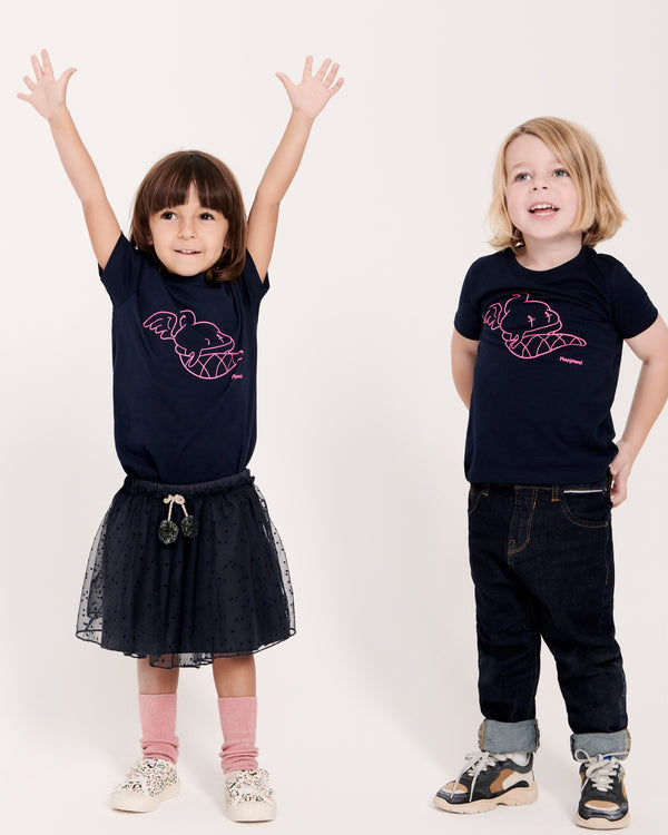 Playground Kids Frankie the Ice Cream T-shirt in Navy