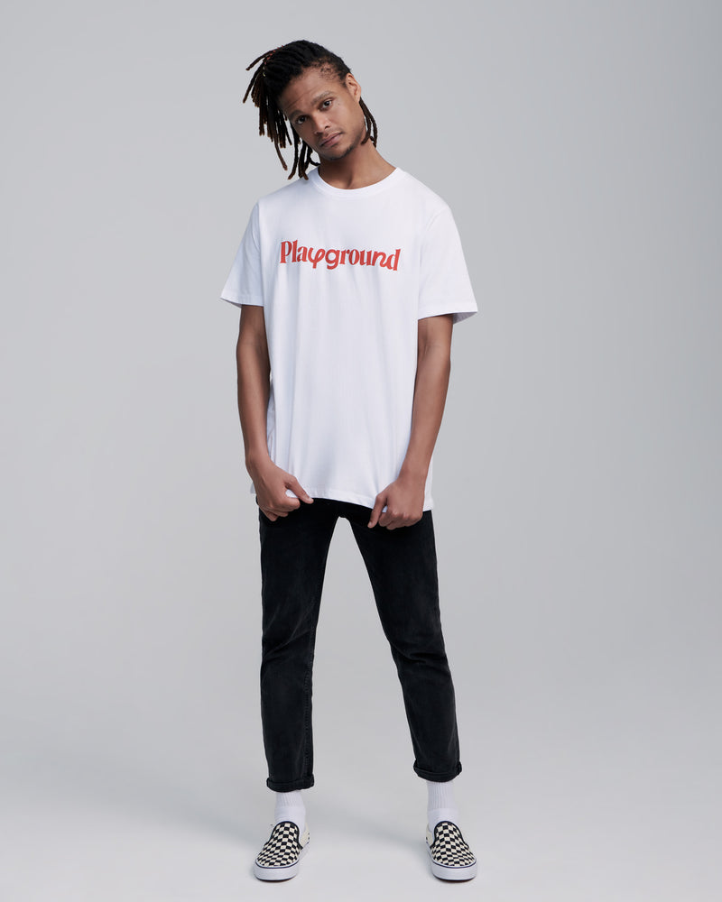 Playground Playful Logo T-shirt In White