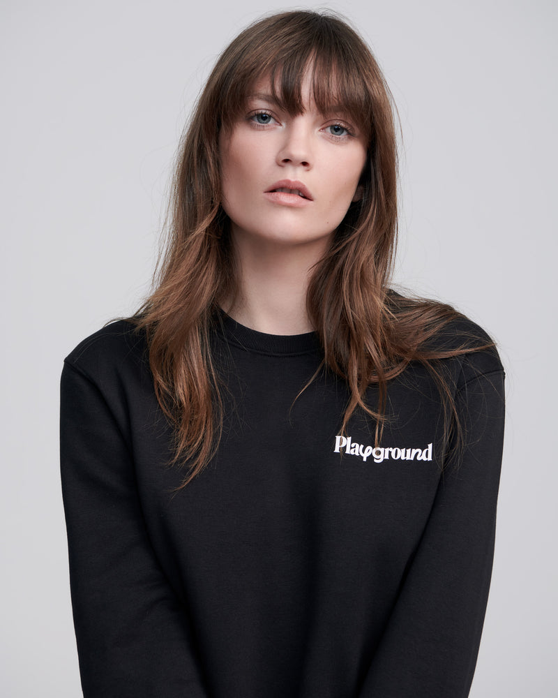 Black Core Playground Logo Sweatshirt