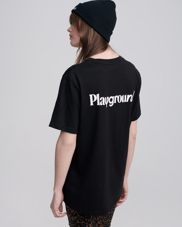 Playground Ice Cream Logo T-shirt In Black