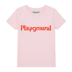 Playground Kids Playful Logo T-shirt in Pink And Red