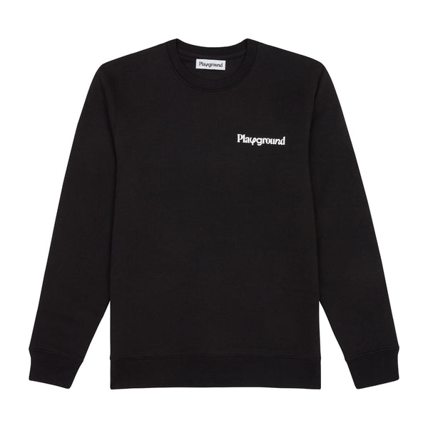 Playground Core Logo Sweatshirt In Black