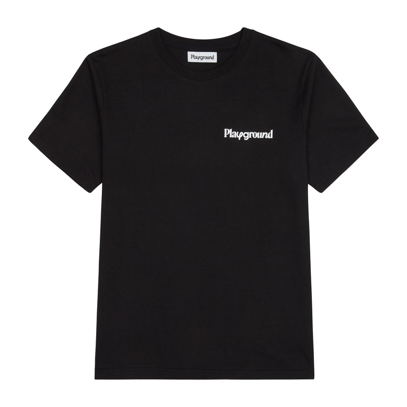 Playground Core Logo T-shirt In Black