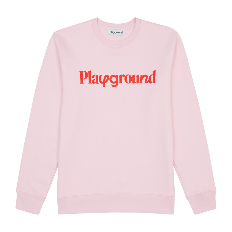 Playground Playful Logo Sweatshirt In Pink And Red