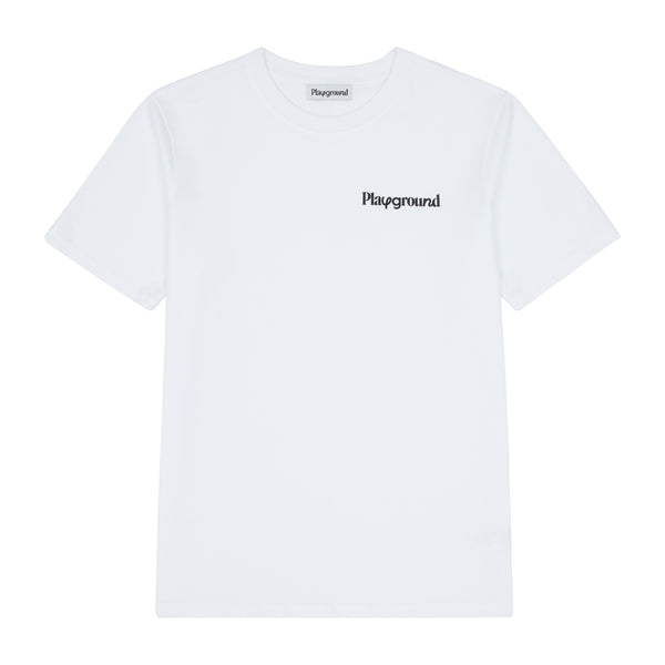 Playground Core Logo T-shirt In White