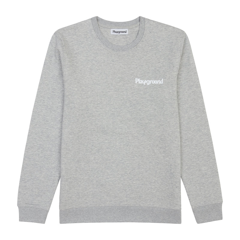 Playground Core Logo Sweatshirt In Grey
