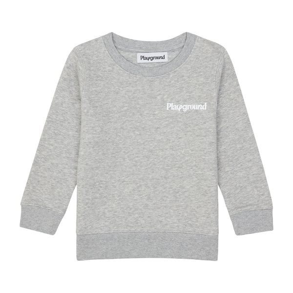 Playground Kids Core Logo Sweatshirt In Grey