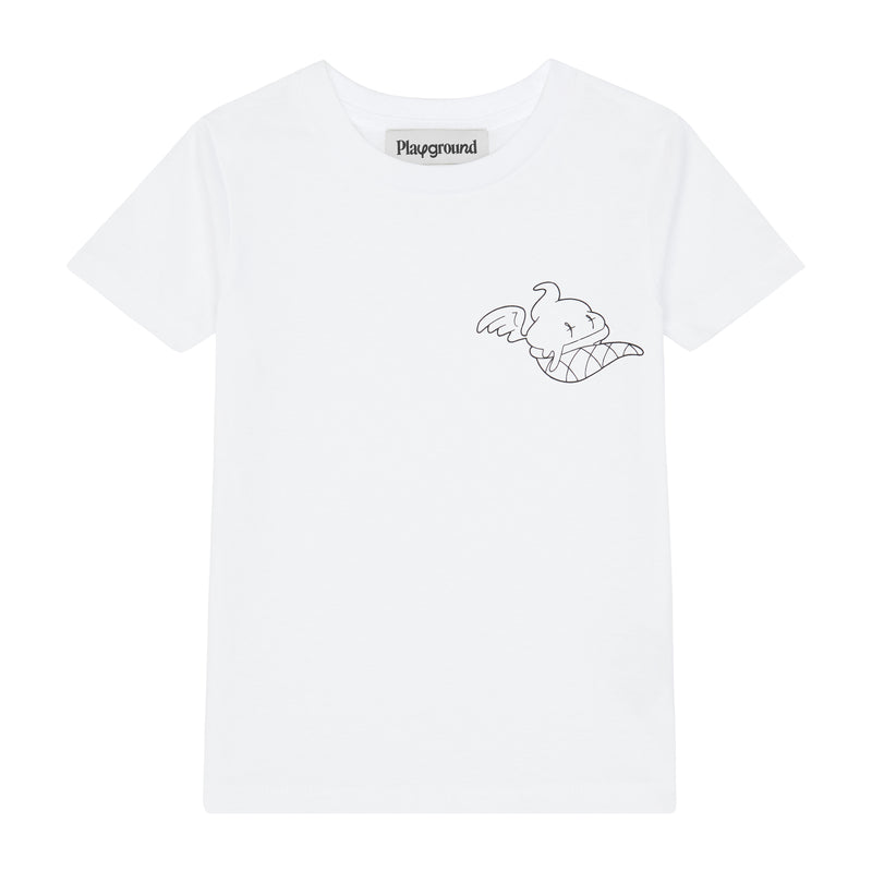 Playground Kids Ice Cream Logo T-shirt In White