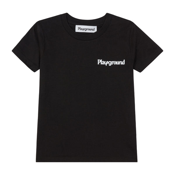 Playground Kids Core Logo T-shirt In Black