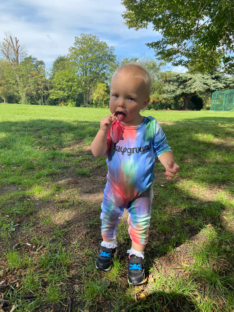 Playground x Henry Holland Babysuit Red/Blue/Green Tie Dye