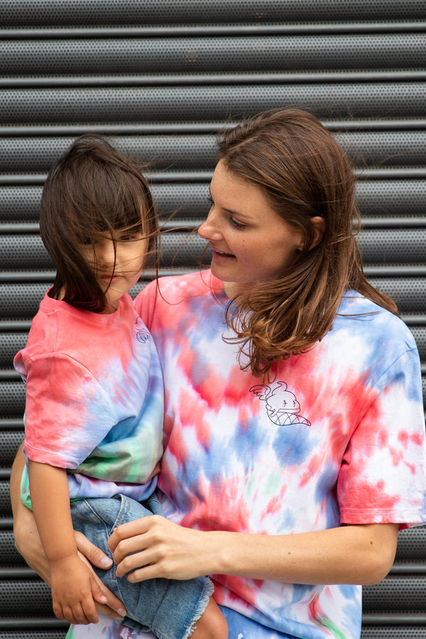 Playground x Henry Holland Adults T-shirt Red/Blue/Green Tie Dye