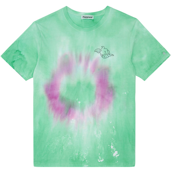 Playground x Henry Holland Adults T-shirt Green/Purple Tie Dye