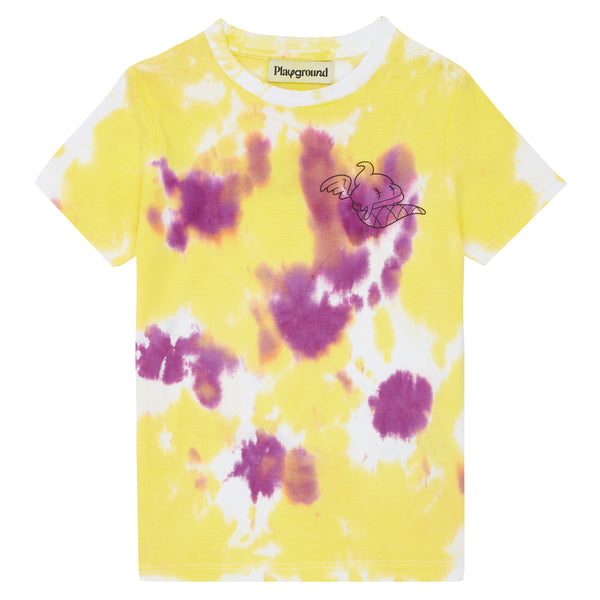 Playground x Henry Holland Kids T-shirt Yellow/Purple Tie Dye