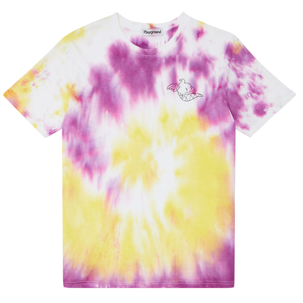 Playground x Henry Holland Adults T-shirt Yellow/Purple Tie Dye