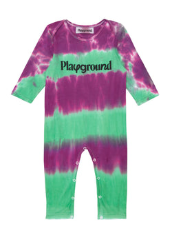 Playground x Henry Holland Babysuit Purple/Green Tie Dye