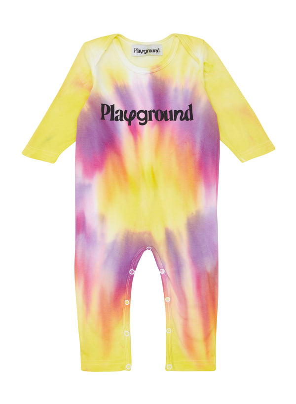 Playground x Henry Holland Babysuit Yellow/Purple Tie Dye