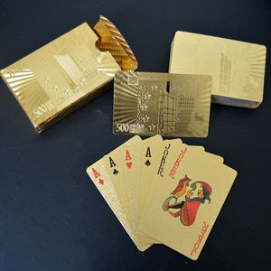 Gold Foil Waterproof Playing Cards
