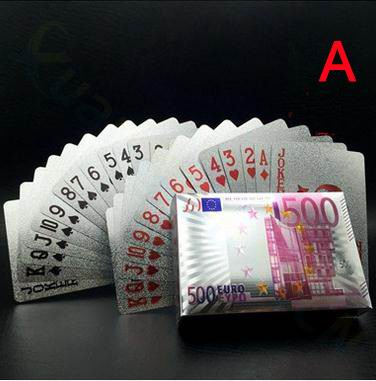 US dollar 24K Plated Poker Cards